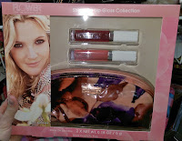 Drew Barrymore cosmetics Walmart Ross red nude makeup bag orange beauty guru