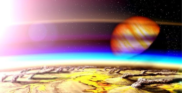 Artist's impression of a Young Earth. Credit: W. Henning