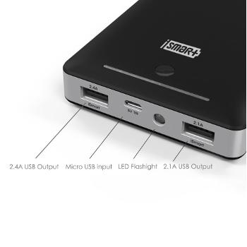 RAVPower 16000mAh External Battery Pack Power Bank with iSmart Technology 4.5 amp output