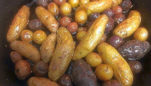 Duck Fat Roasted Rosemary Fingerling Potatoes