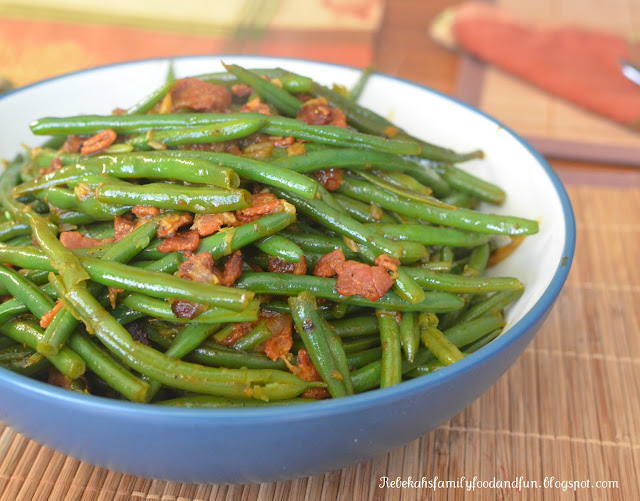 how to cook green beans with bacon