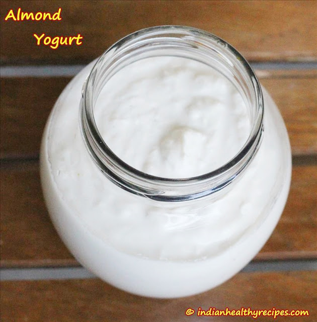 how to make almond yogurt at home