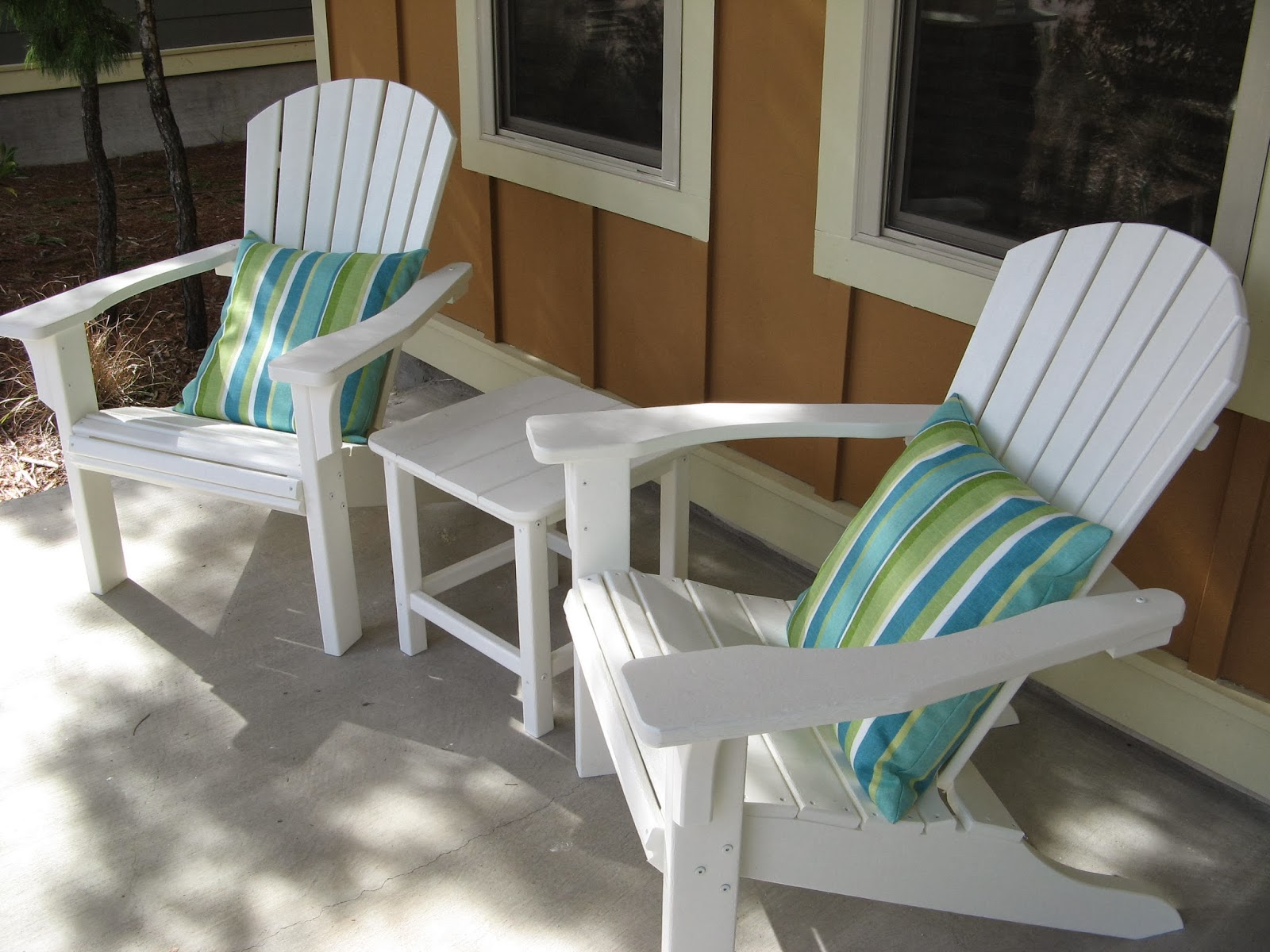 Adirondack chair pillows with ties