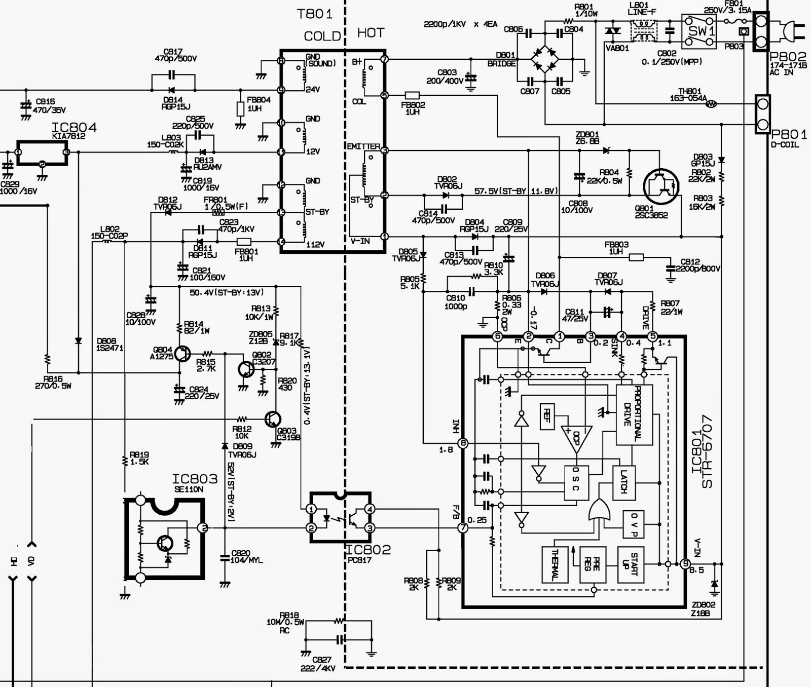 STR - 6707 - SMPS SCHEMATIC [Circuit Diagram] | Electro help