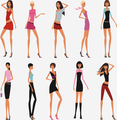 Slim Girls Vector