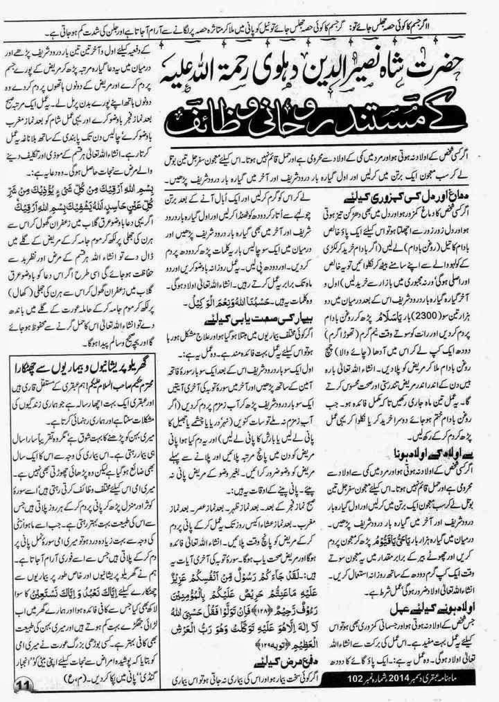 Ubqari Magazine December 2014 Page 11