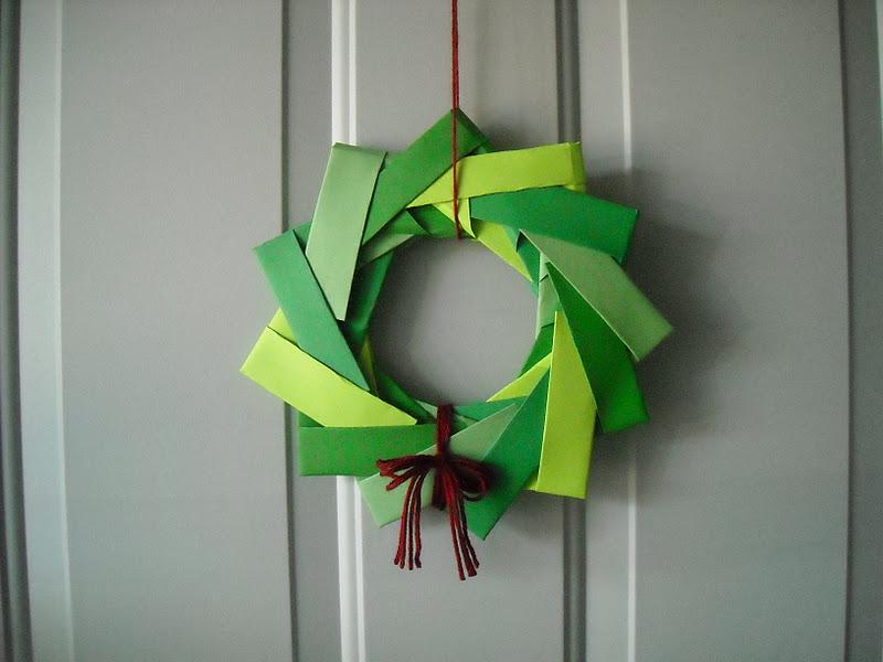 a crafty cook origami wreath