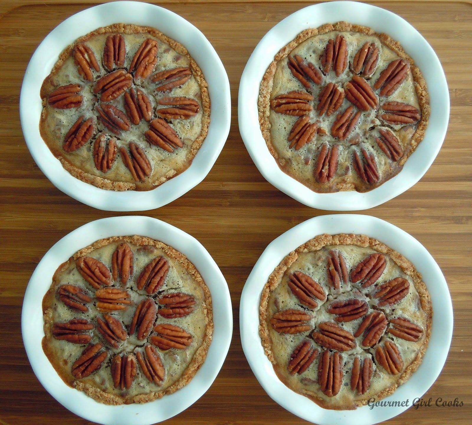 ... Girl Cooks: Pecan Pie w/ Cinnamon Almond Crust -- Wheat & Sugar Free