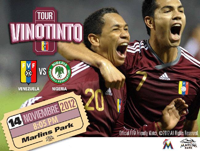 Partido amistoso Venezuela vs Nigeria ¡Confirmado!
