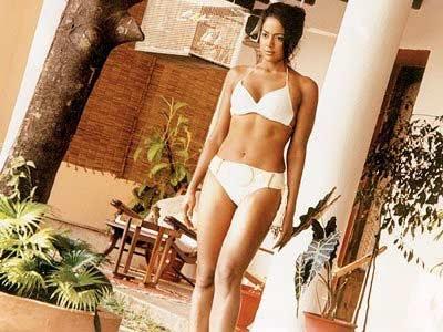 Sameera Reddy in white bikini