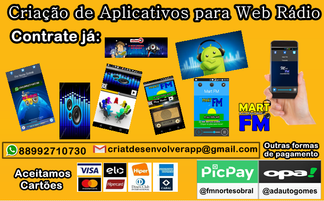 Aplicativos Para web Rádio Contrate já.