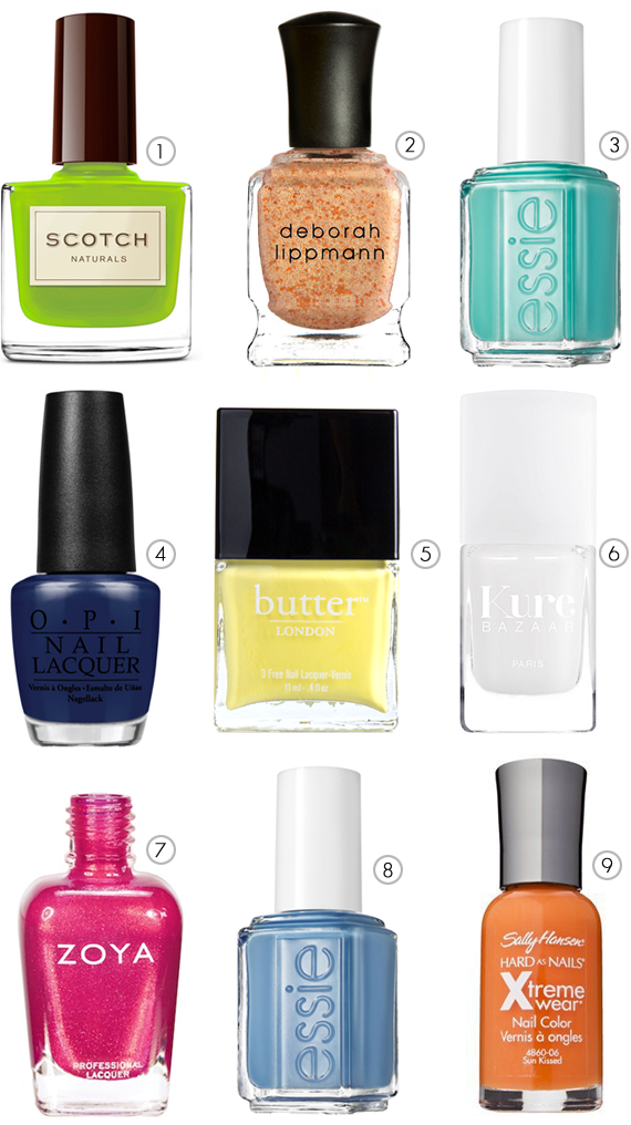 The Best Nail Polishes for Spring and Summer // via Bubby and Bean