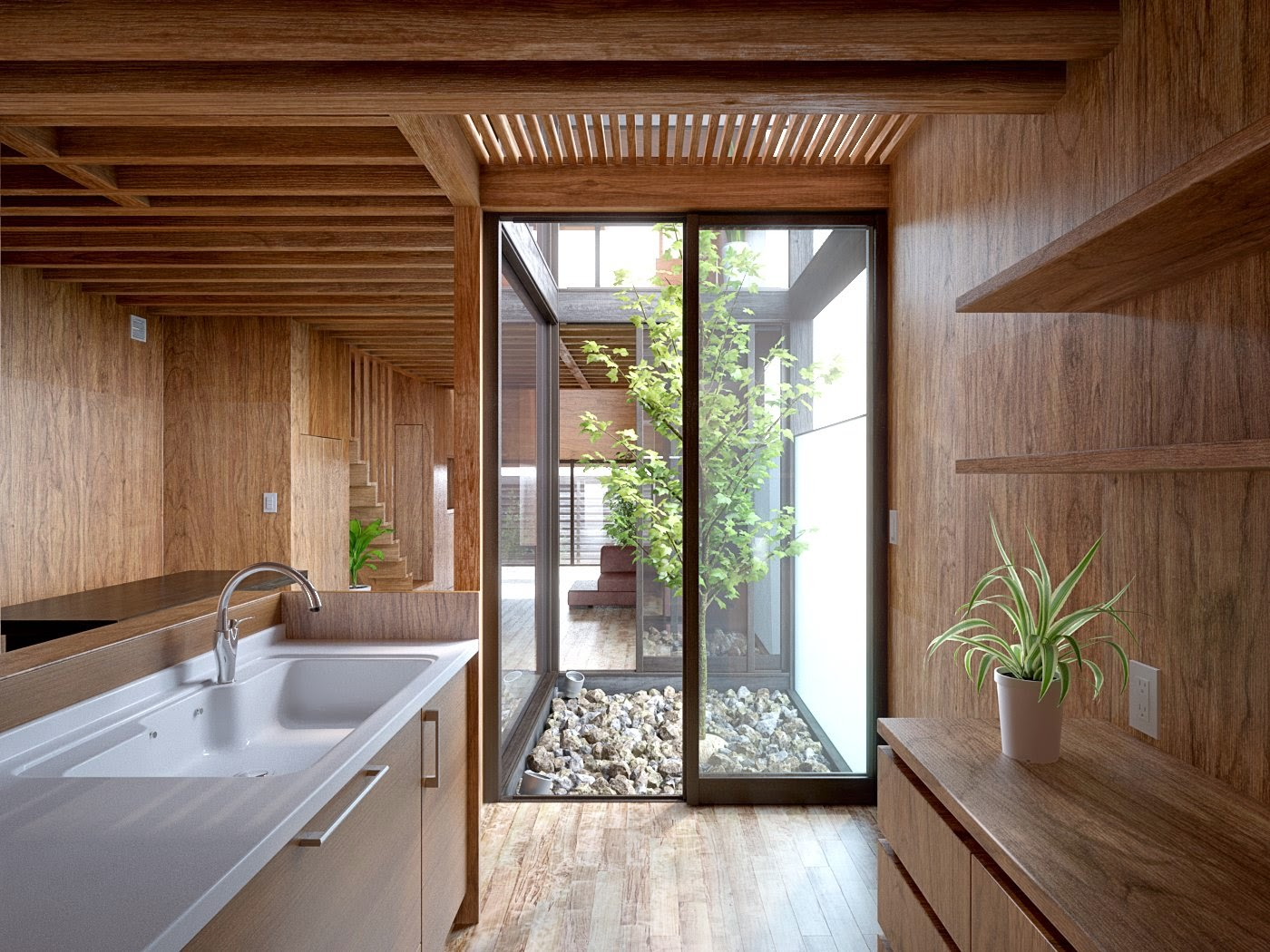 Making of wooden interior scene 4 from archinteriors 28 for Vray interior