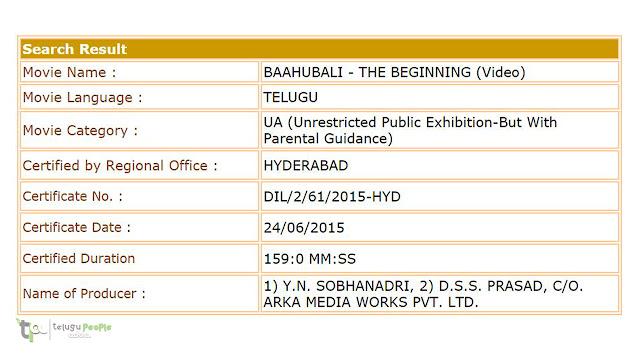 Baahubali Movie Censor Complete | Prabhas | Rajamouli | Anushka | Rana Daggubati