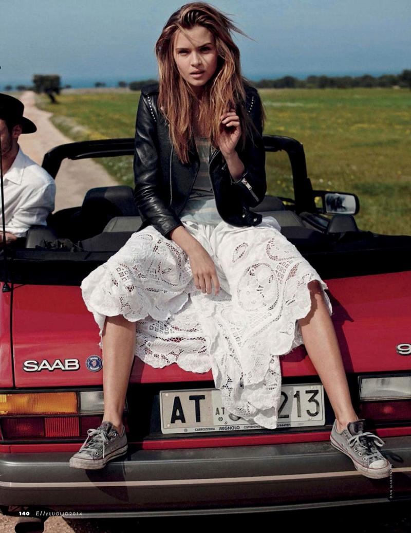 Josephine Skriver in Elle Italy July 2014 (photography: Dan Martensen, styling: Eva Geraldine Fontanelli)