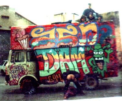 graffitis camión zosen Dam Berok Ribon