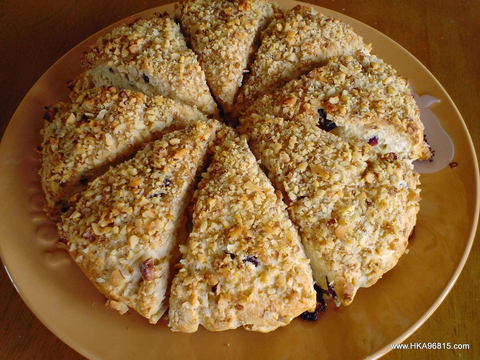 Hale Ku'ai Aloha 96815: Cranberry Walnut Bisquick Scones, fast & easy