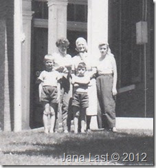 Webster Family in Front of General U.S. Grant Home Galena, Illinois 1952