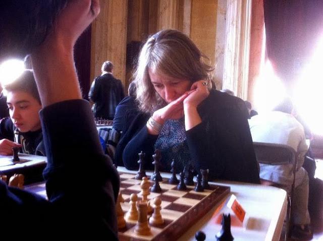 Agnès Eden au tournoi d'échecs de Vincennes © Chess & Strategy