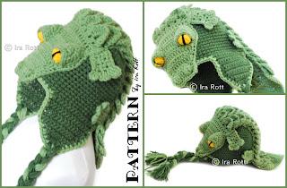 Fashion Crochet Design By Ira Rott  Snappy Simon the Crocodile Hat ... 2f873564316
