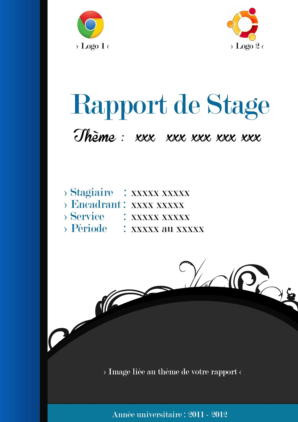 page rapport de stage