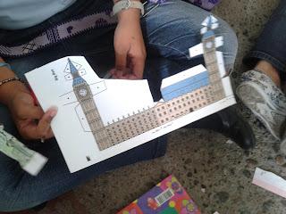 molde de papel molde la torre del bing beng londres