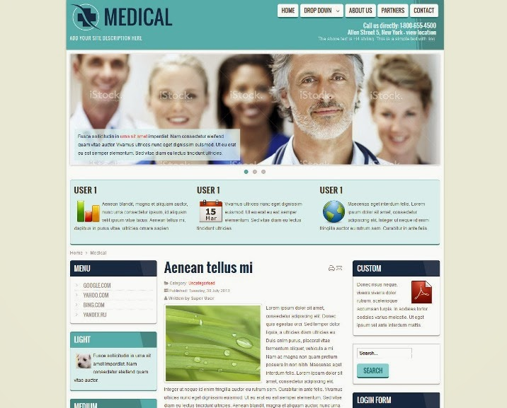 Medical, Health, Doctor Free Joomla Template