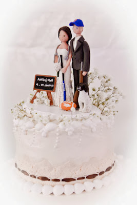 personalized hunting wedding cake topper