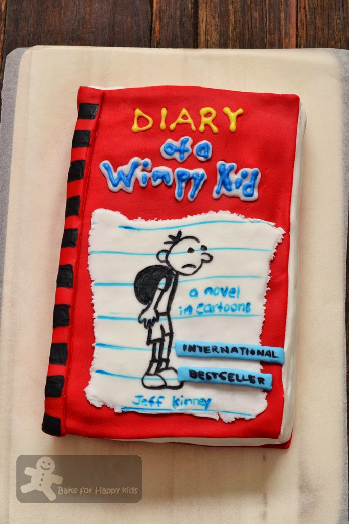 Diary of a Wimpy Kid birthday cake