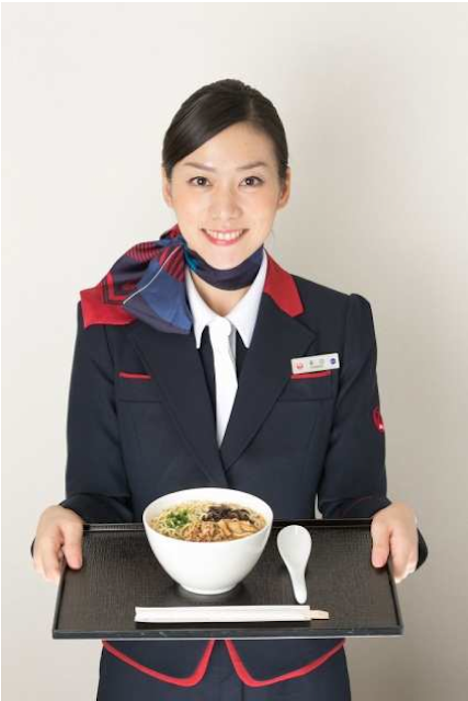 "JAL will start serving a healthy ""Tonkotsu style"" ramen in First Class and Business Class"