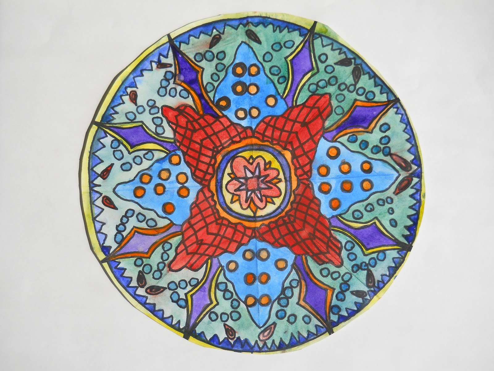 Radial Design Art : Art with mrs lane mandala radial designs