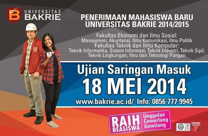 Pendaftaran Mahasiswa Baru Universitas Bakrie