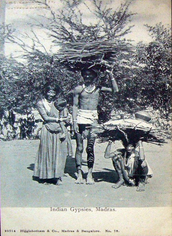 Vintage-Postcard-of-Indian-Gypsies---Madras-%2528Chennai%2529