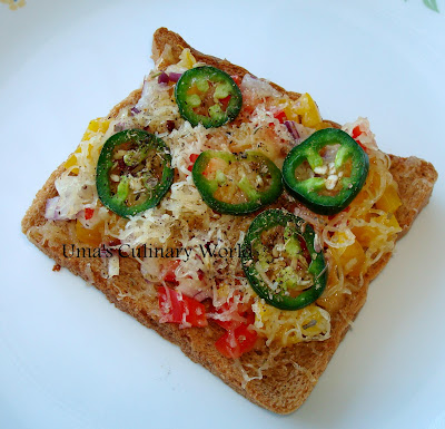sliced bread instant pizza