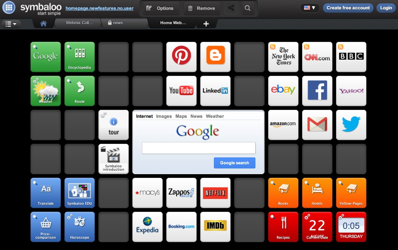 symbaloo organize your favorite websites visually in one place