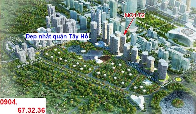 Vị trí tòa nhà N01-T2 chung cư Ngoại Giao Đoàn, Tây Hồ, HN