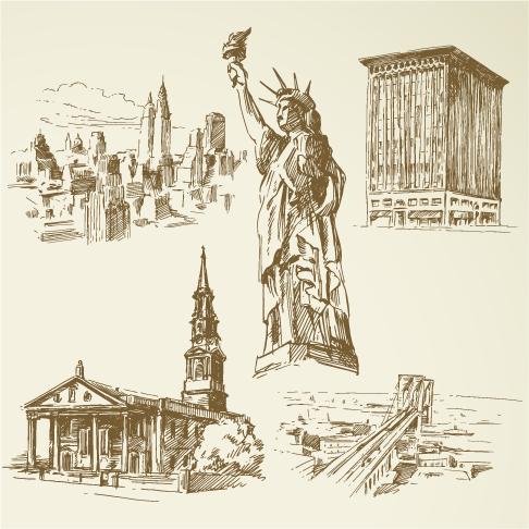 Nueva York a plumilla - clipart