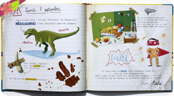 Journal de bord d'un chasseur de dinosaures de Nancy Guilbert et Séverine Duchesne - Circonflexe