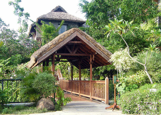 Resort entrance. Book your family holiday package