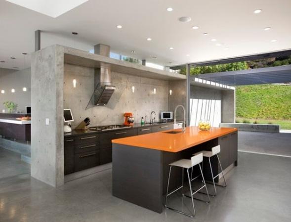 Cocina integral de concreto imagui for Cocinas de concreto