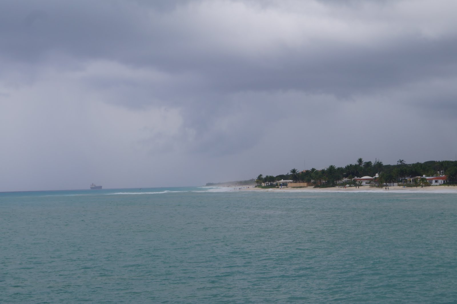 Leaving Playa del Carmen on Ferry to Cozumel in rain