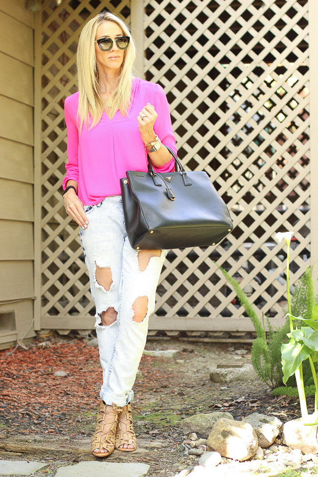 pink long sleeve tunic top nordstrom
