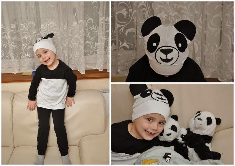 Engelinchen: genäht: Faschingskostüm für Philipp - als Pandabär =)