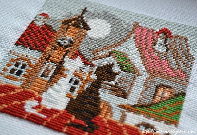 Riolis 611, кошки на крыше, риолис кошки весна, вышивка, вышивка крестом