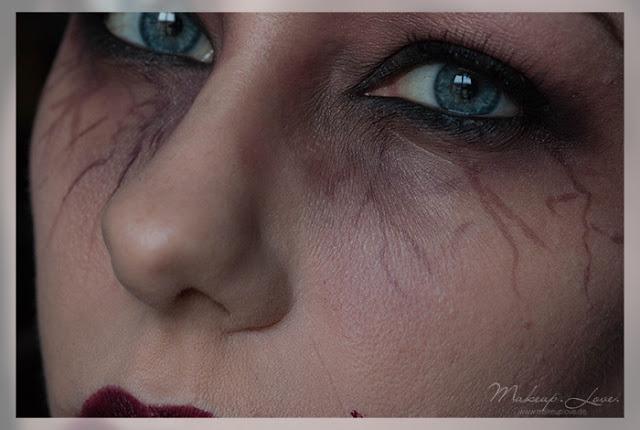 halloween look 2015 vampir einfaches makeup zu halloween