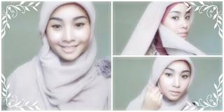 model jilbab untuk wajah bulat
