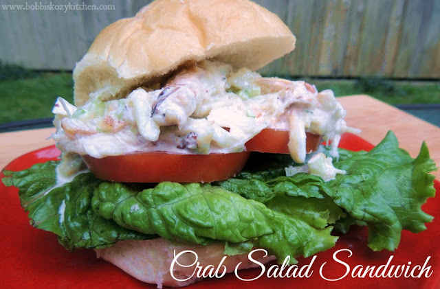 Crab Salad Sandwiches from www.bobbiskozykitchen.com