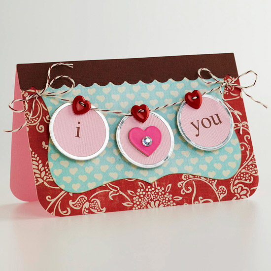 TARJETA: I HEART YOU BANNER CARD
