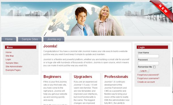 Free Web Hosting Business Joomla Template