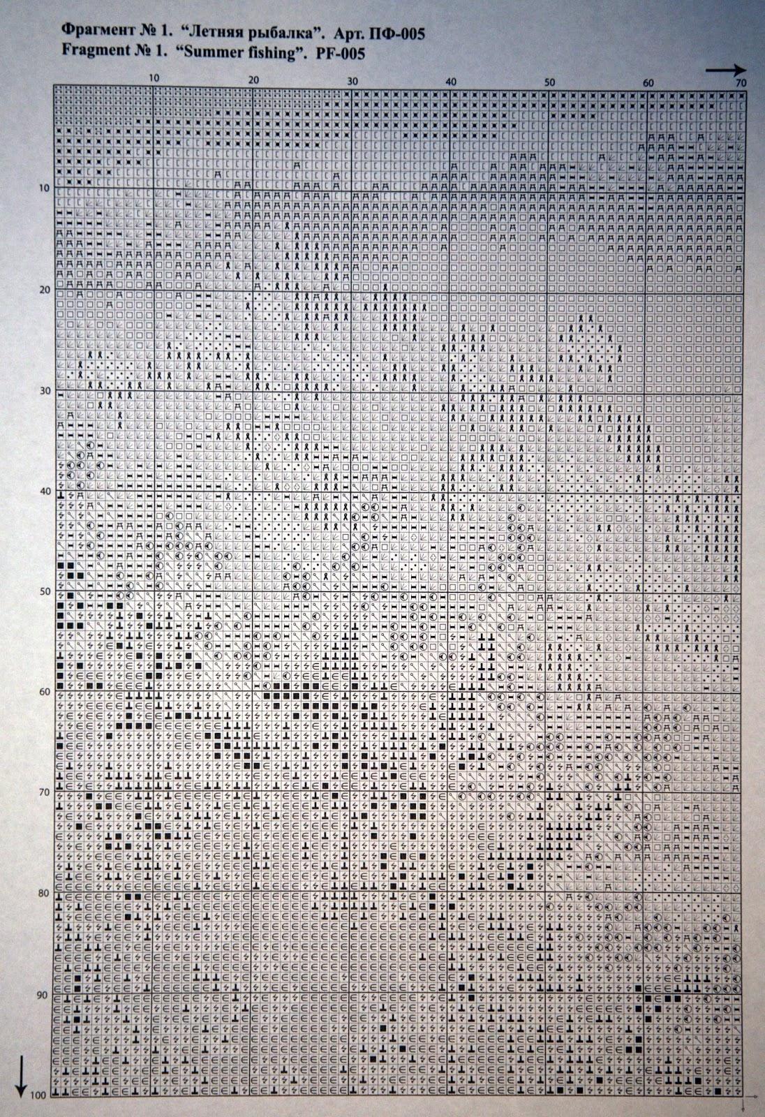 Схема вышивки летняя рыбалка 40